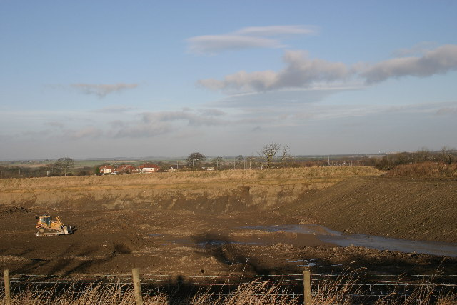 Landfill site west of Newcastle Airport