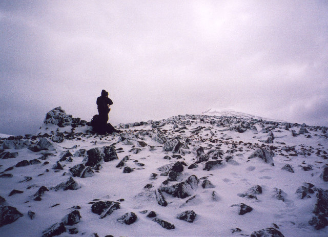 the cairn on Carn Beag Dearg