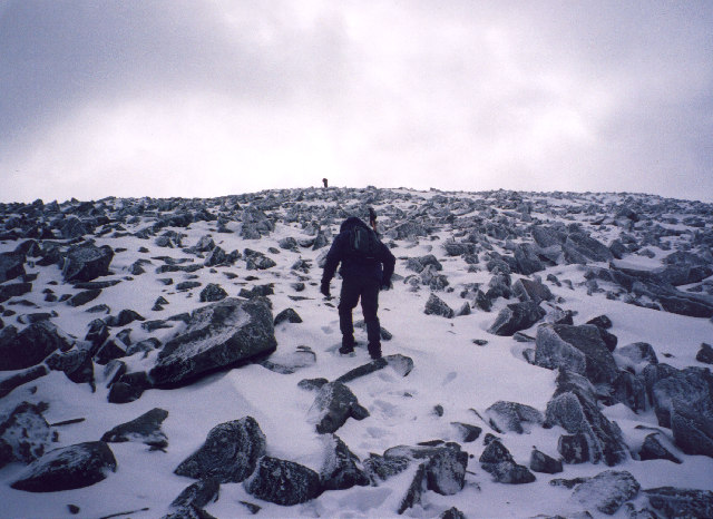 the north ridge of Carn Mor Dearg