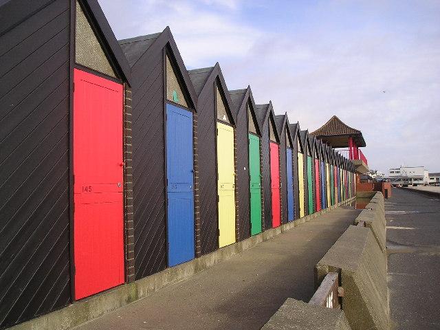 Beach huts near Claremont Pier