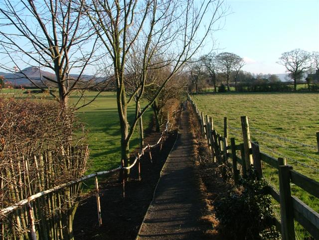 Public Footpath Heading South East to the Church