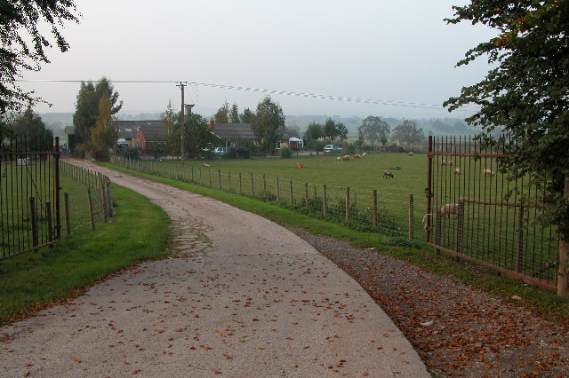 Entrance to a farm from the A438