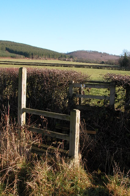 Footpath stile near Checkley