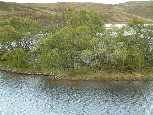 Grianan Island in Lochan Hakel