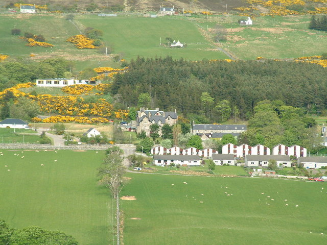 Hotel and modern housing in village of Tongue
