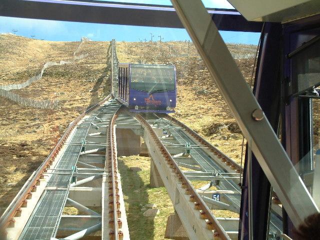Halfway up the Cairngorm funicular