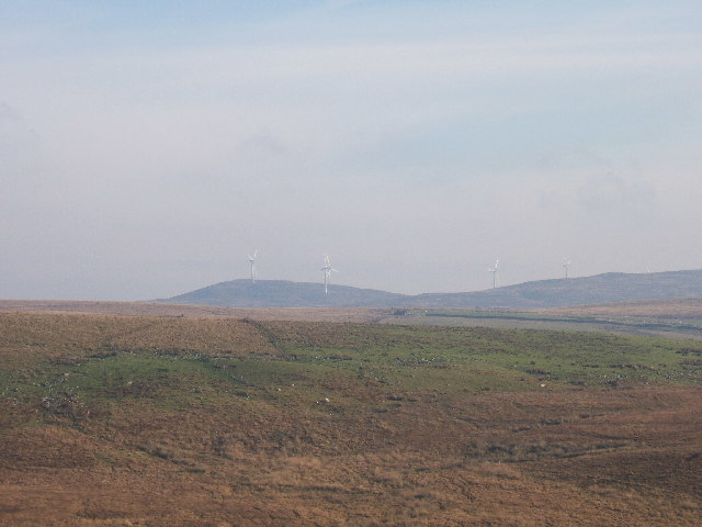 A windfarm at Artfield Fell, East of New Luce