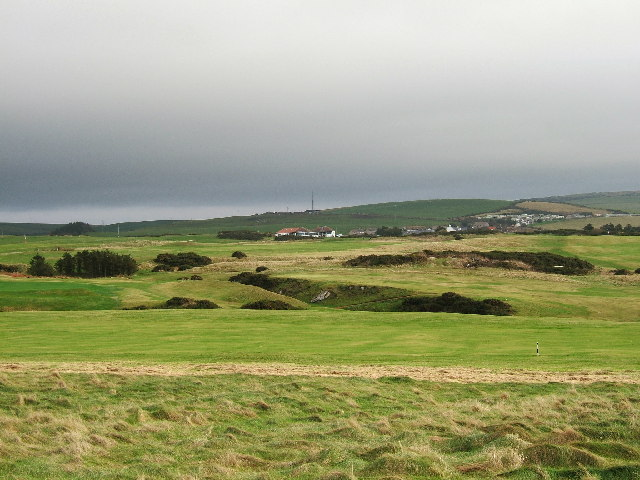 Dunskey golf course and clubhouse at Portpatrick
