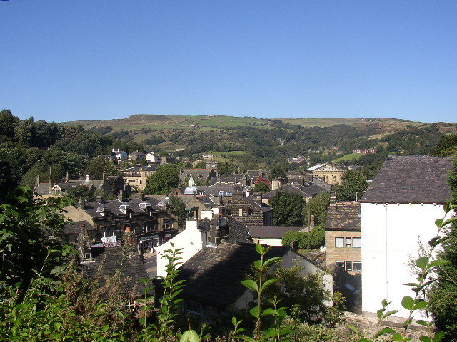 View from former Unitarian Church, Todmorden