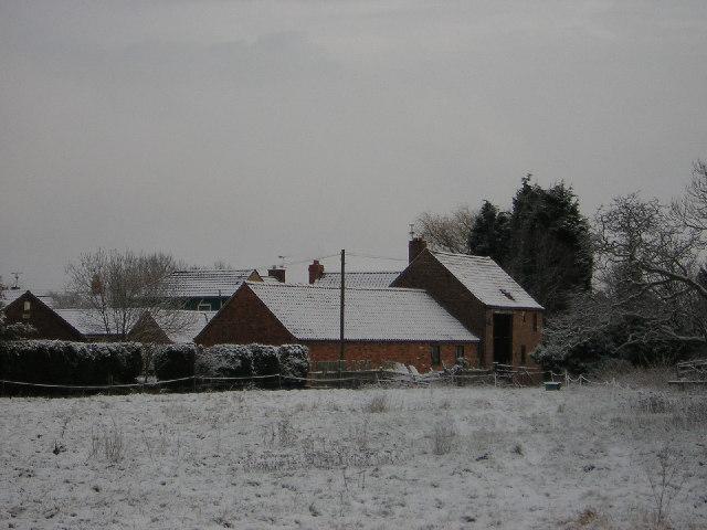 Church Barns in the snow