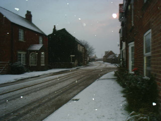 Tunstall Main Street. (Snow flakes and all)