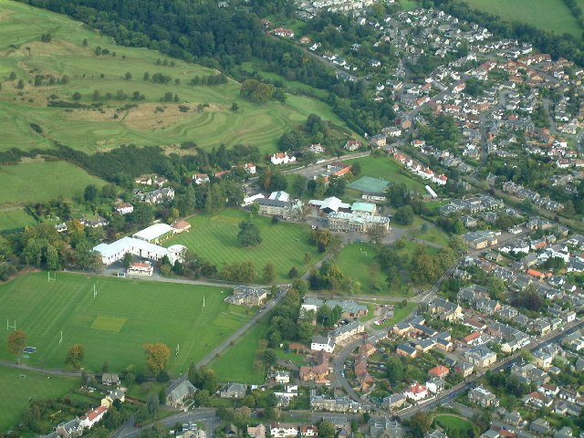 Dollar Academy from the air