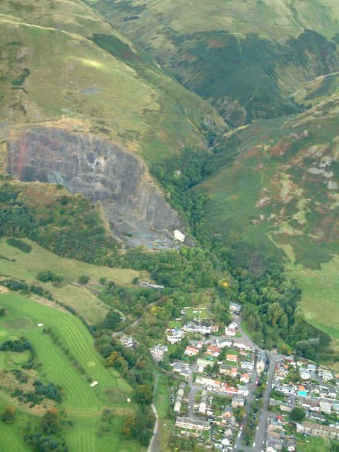 Tillicoultry Quarry and Mill Glen from the air