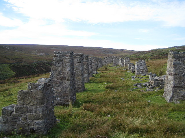 Stone Pillars near to Old Gang Smelting Mills