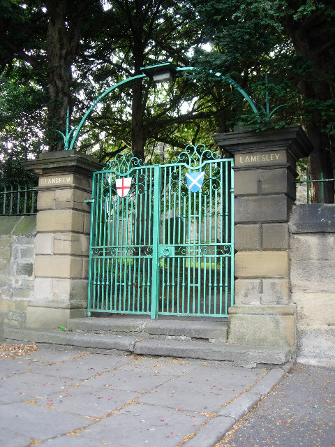 St. Andrews Lamesley church gates