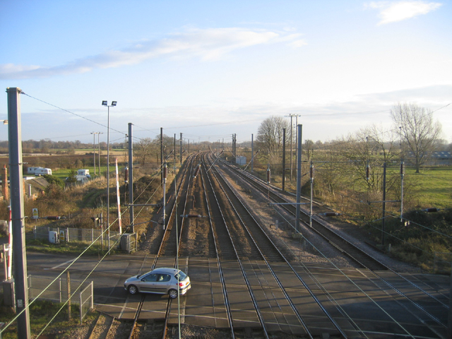 Tallington railway level crossing, Lincs
