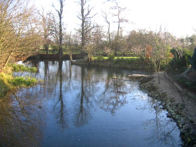 River scene, Market Deeping, Lincs