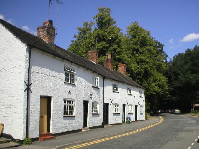 Row of Cottages in Knutsford