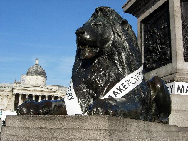 Lion, Nelson's Column, Trafalgar Square