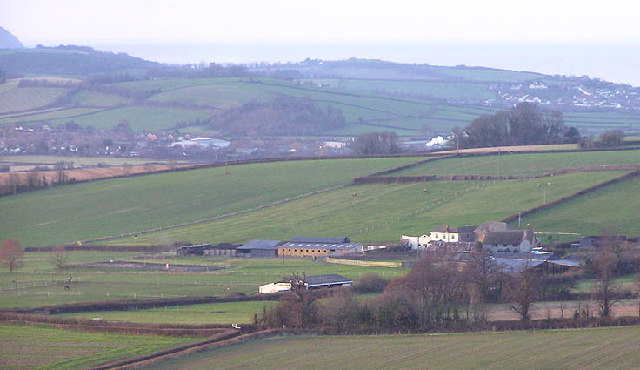 Lower Weacombe farm with Williton in background