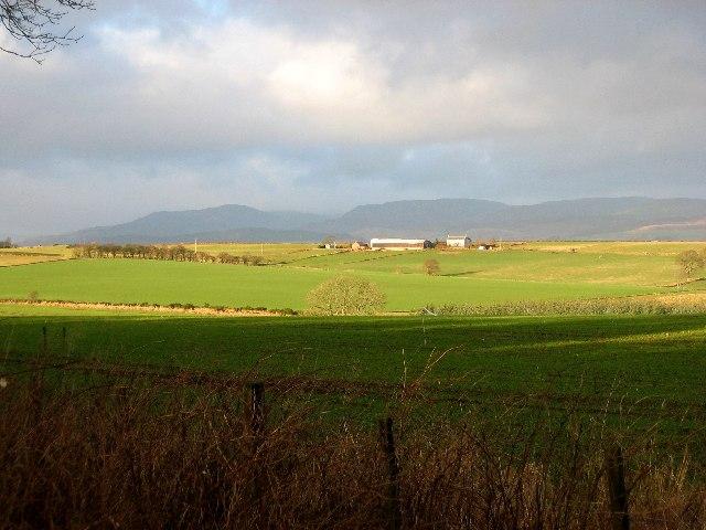 Farmland from Gask Ridge