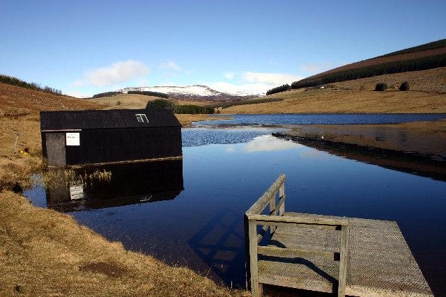Fishing Hut and Jetty on Loch Shandra