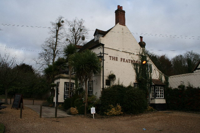 The Feathers Public House, opposite Cliveden entrance