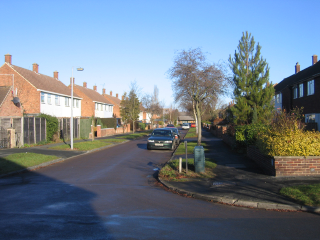 Montgomery Road, Arbury, Cambridge on Christmas Day 2005
