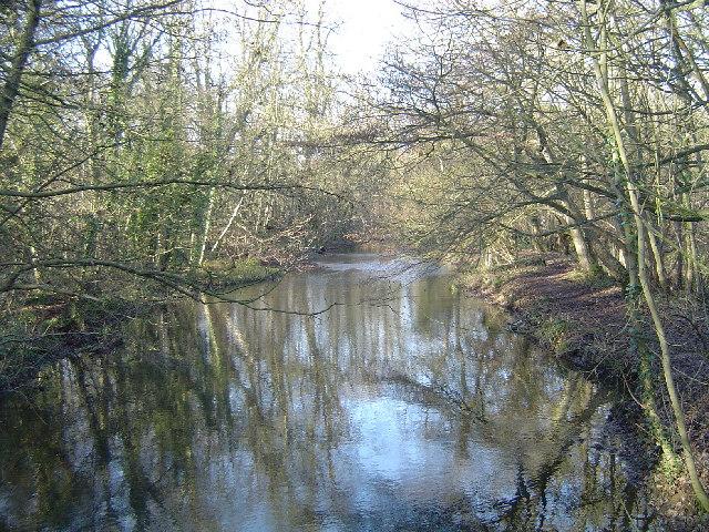 Watford: River Gade, Christmas morning 2005