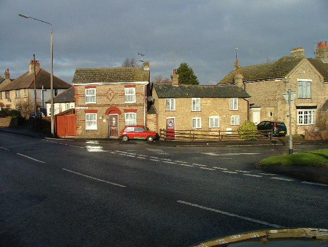 Two tiny houses in Stotfold.