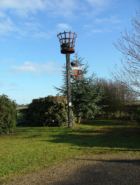 Beacon in Stotfold Cemetery