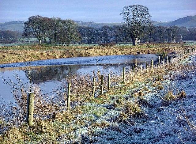 River Annan near Halleaths, Christmas Day 2005