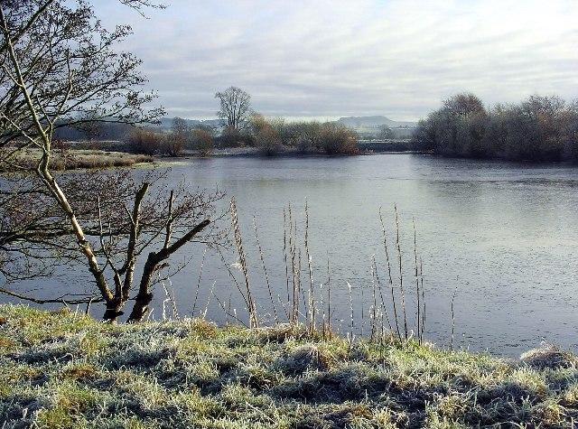 River Annan, frozen, Christmas Day 2005