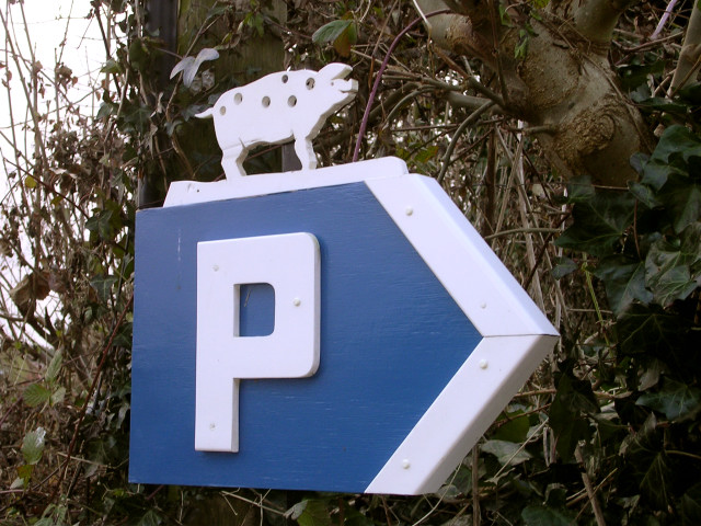 Locally themed parking sign in Toller Porcorum