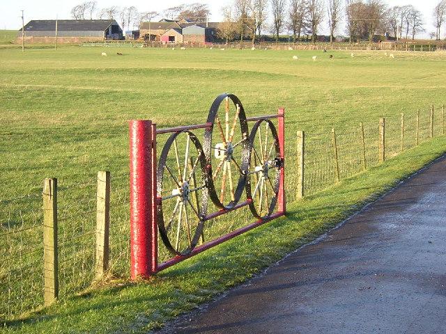 Ornamental Gate at Stramolloch Farm