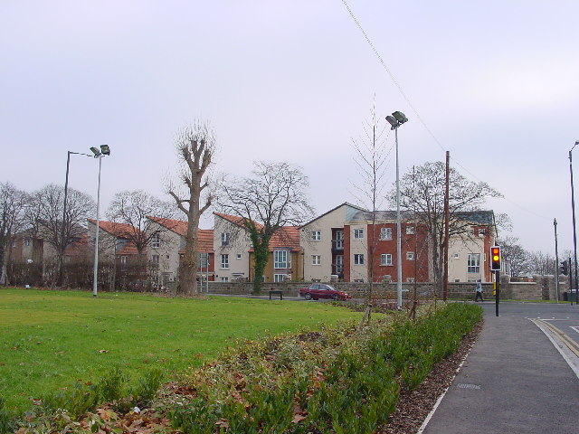 New Houses (2003) in Horfield, on Christmas Day
