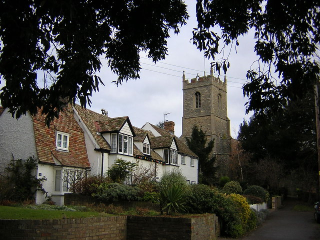 Hartford church and cottages