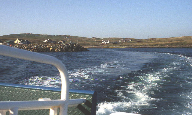 Leaving Ulsta harbour