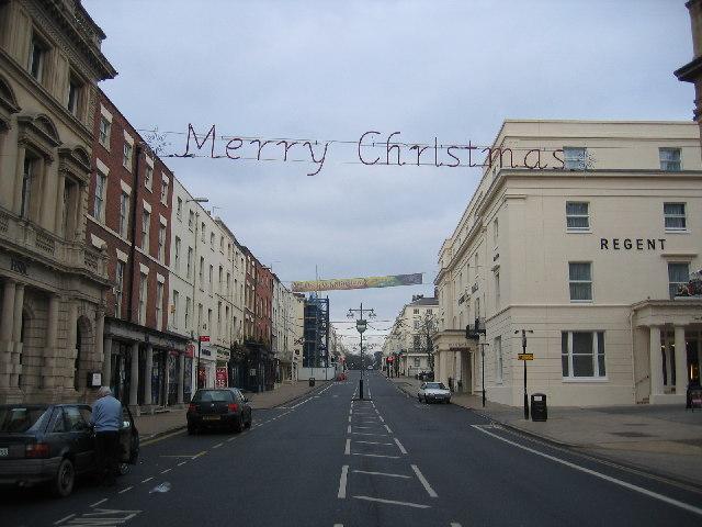 The Parade, Royal Leamington Spa on Christmas Day