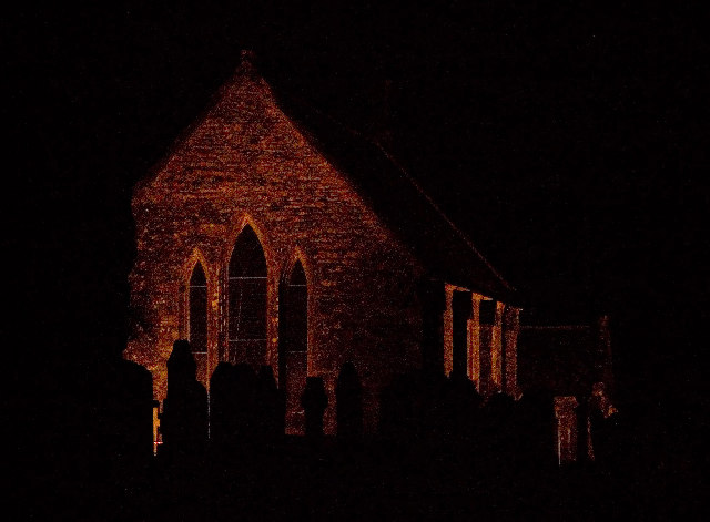 Corsock Church at night
