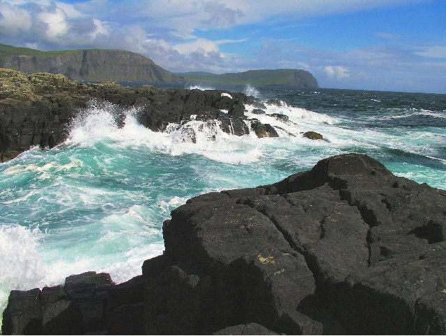 Rocks off Neist Point, Skye