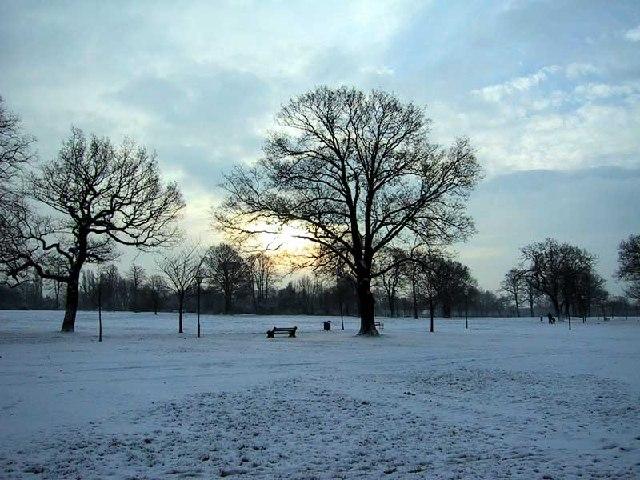 Winter Scene in Worden Park