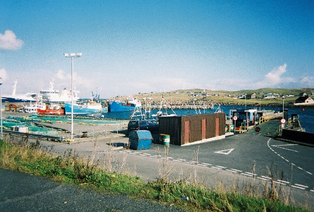 Symbister harbour and ferry terminal, Whalsay, Shetland
