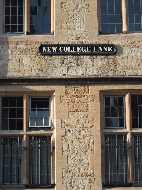 Historic building at New College Lane, Oxford