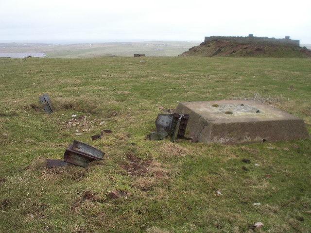 WW2 remains, Noss Hill, Shetland