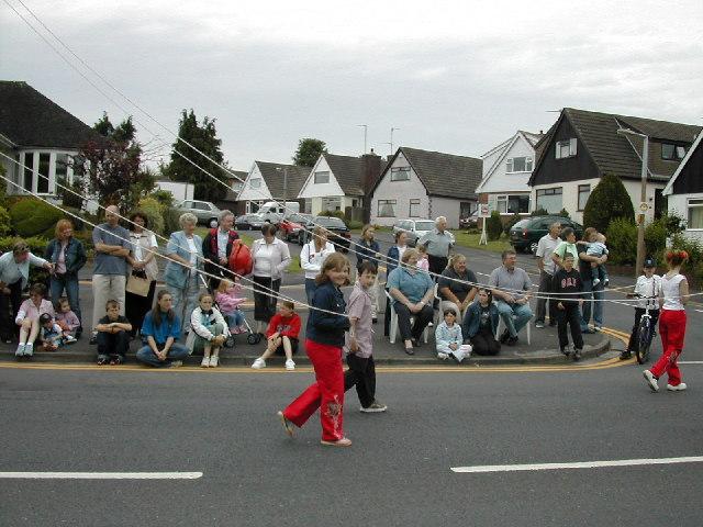 Kirkham Club Day passing along Preston St
