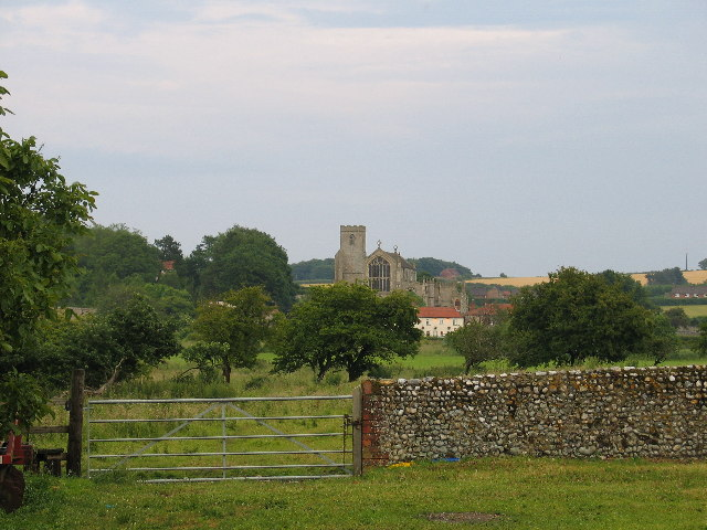 Cley Church from Wiveton