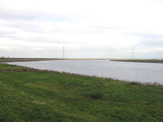 River Parrett north east of Combwich, flood tide