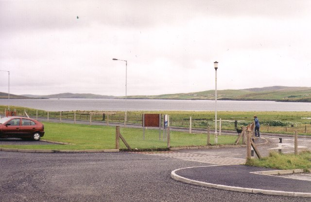 View from Brae Junior High school across Busta Voe