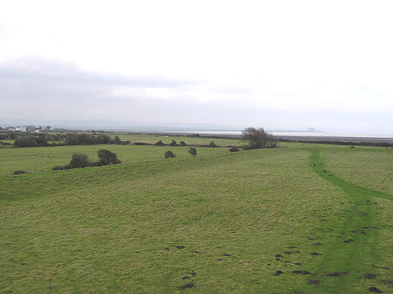 View west from Tower of the Winds to Steart and Hinkley